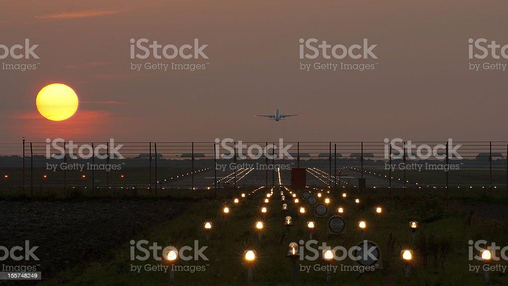 Evening flight. stock photo