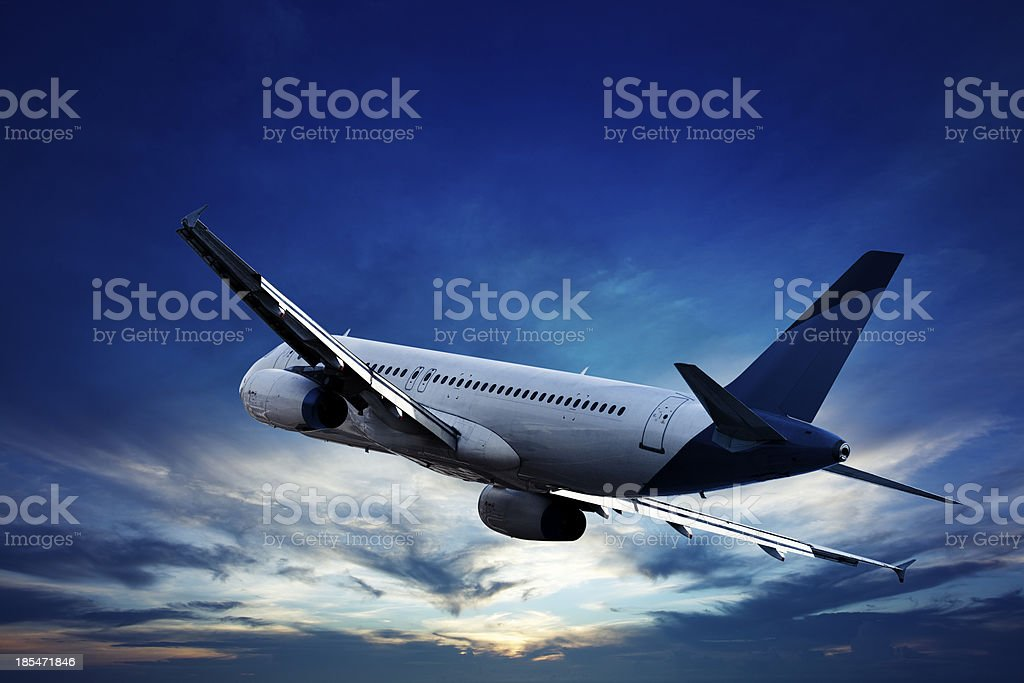 Evening flight royalty-free stock photo