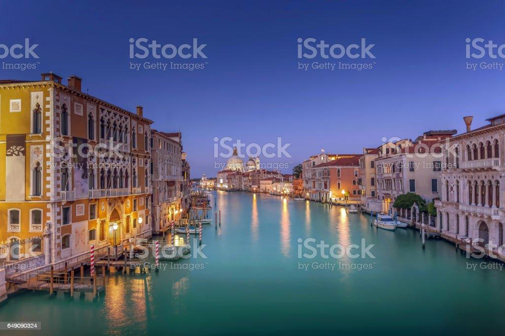Evening from Accademia Bridge. stock photo