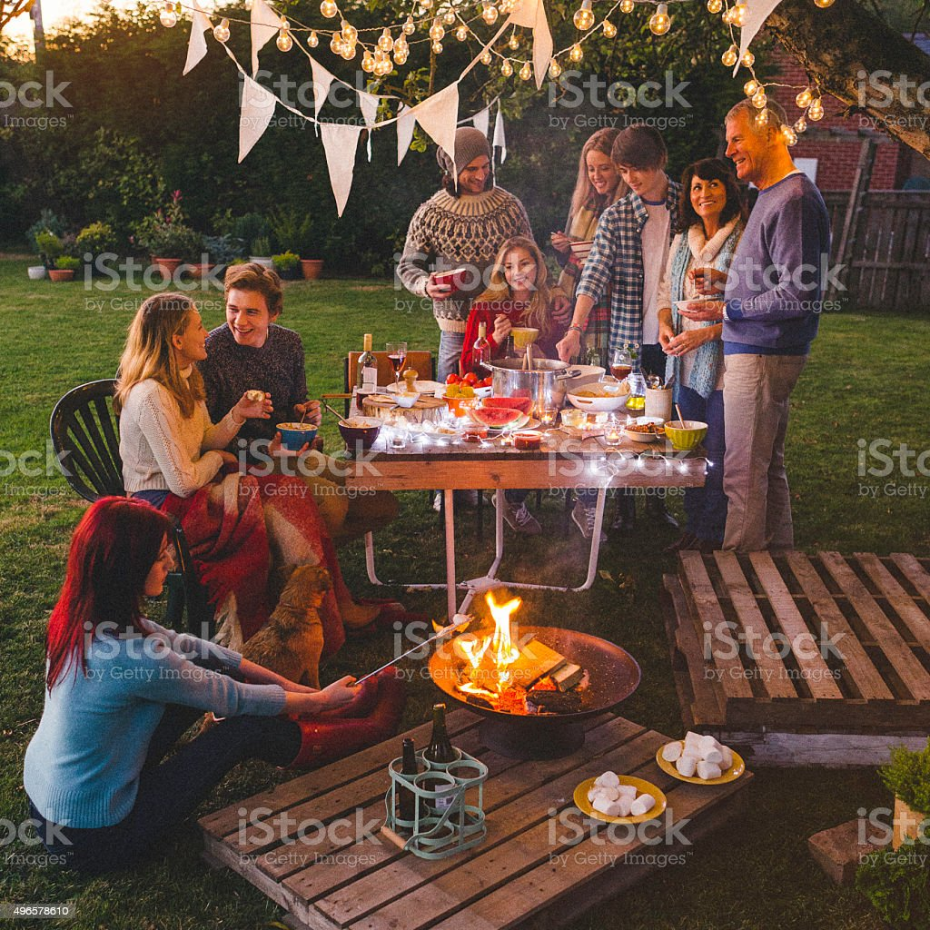 Evening Garden Party stock photo