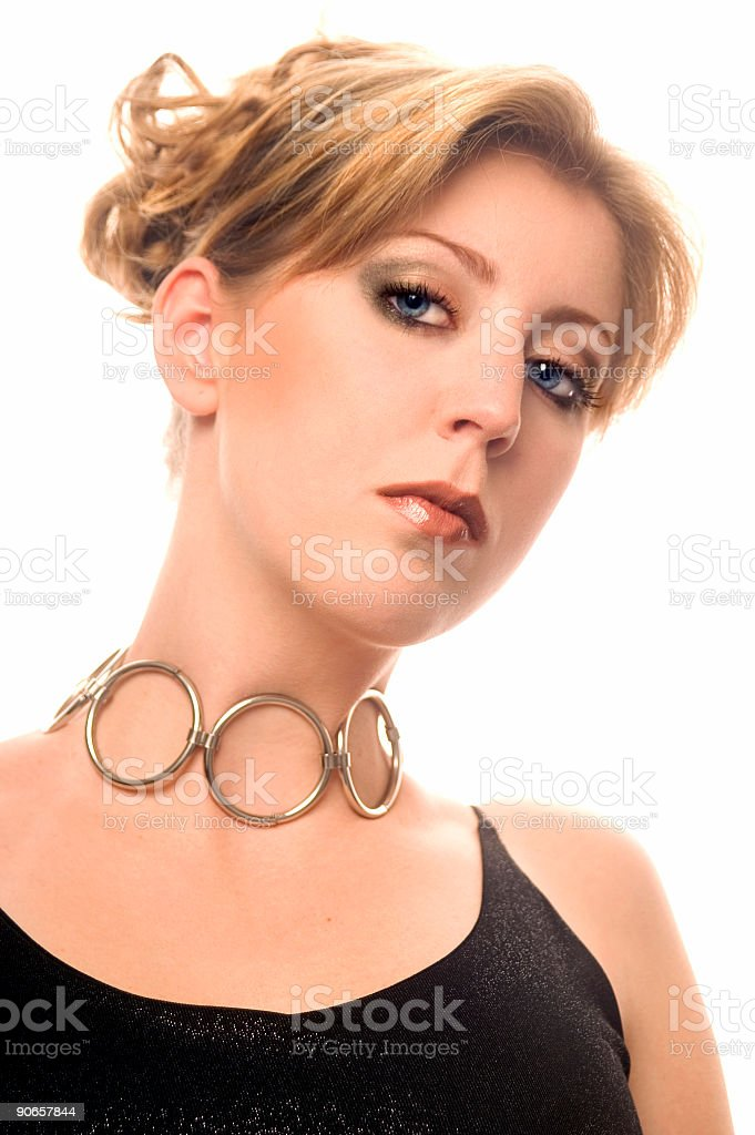 Evening Hairstyle stock photo