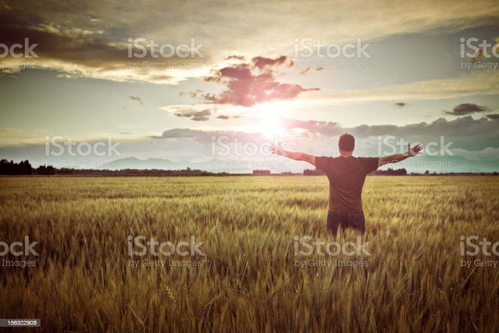 Evening hope stock photo