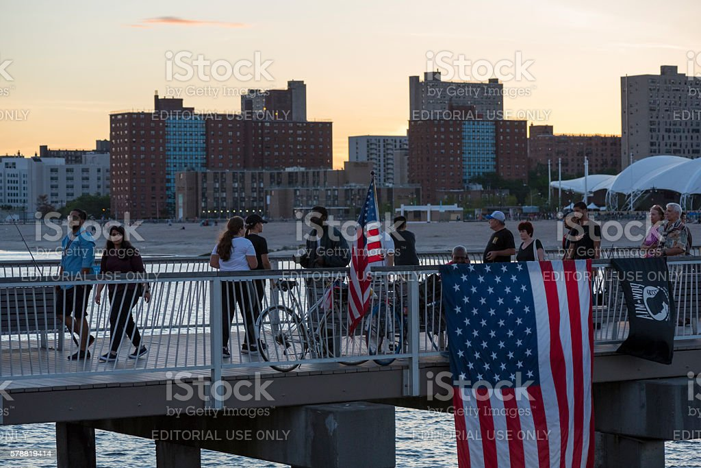 Evening in America (Coney Island, New York) stock photo