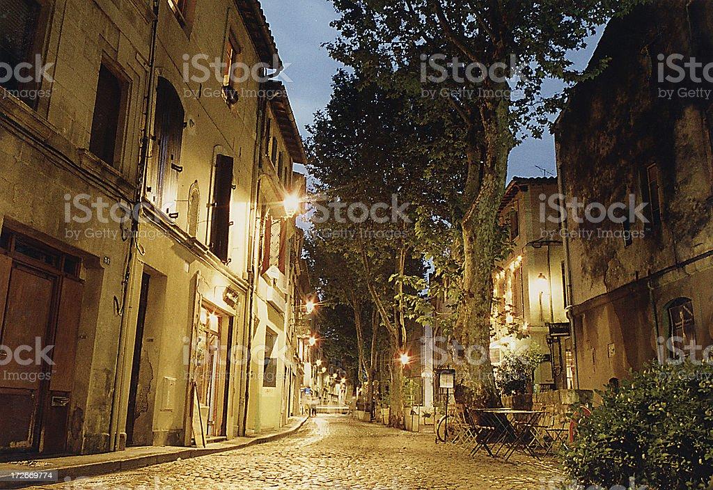 Evening in Avignon stock photo