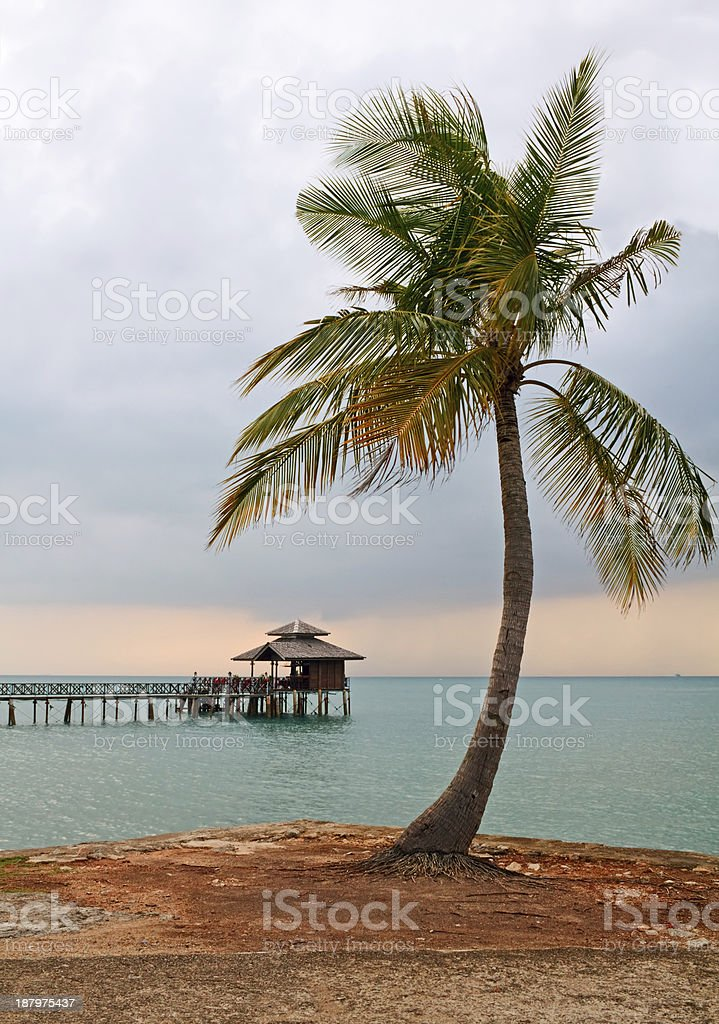 Evening in Bintan stock photo