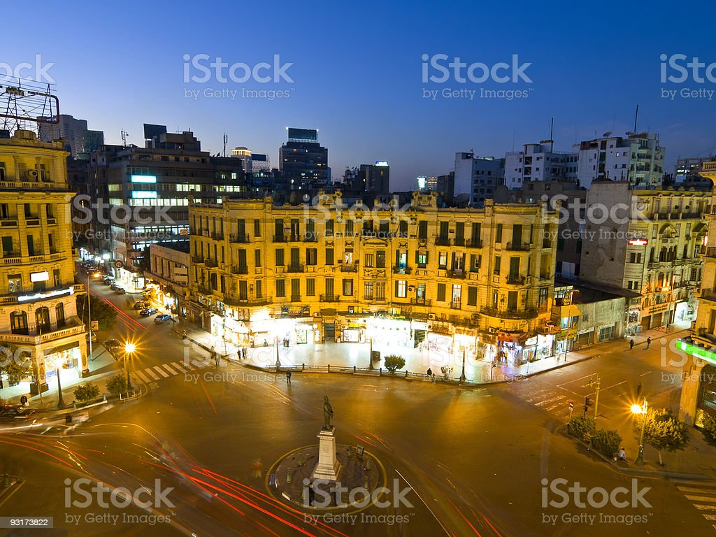 Evening in Cairo royalty-free stock photo
