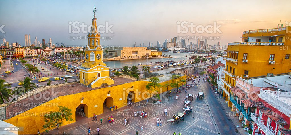 Evening in Cartagena stock photo
