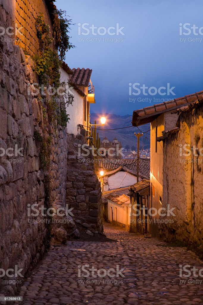 Evening in Cusco royalty-free stock photo