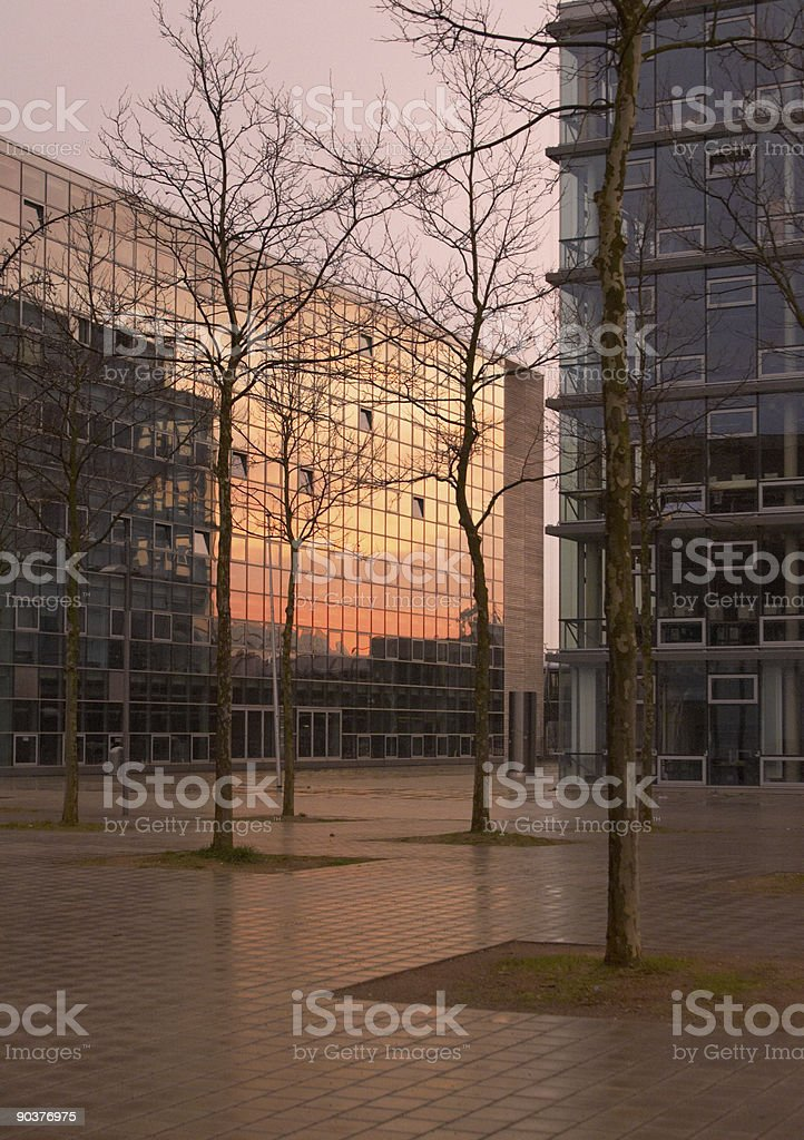 Evening in Hannover royalty-free stock photo
