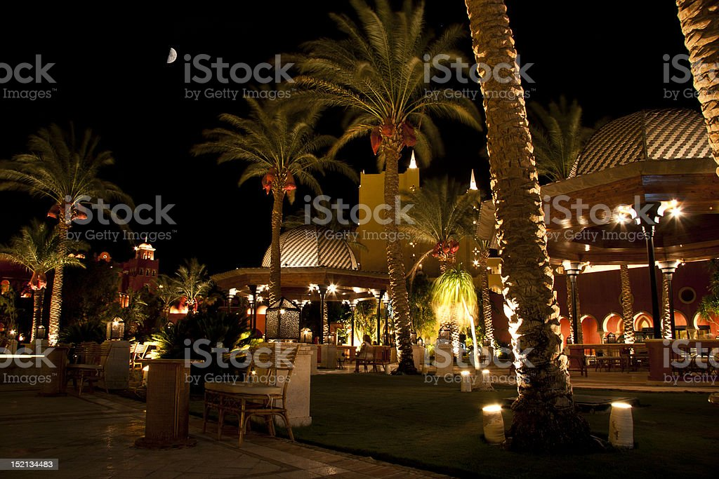 Evening in Hurghada stock photo