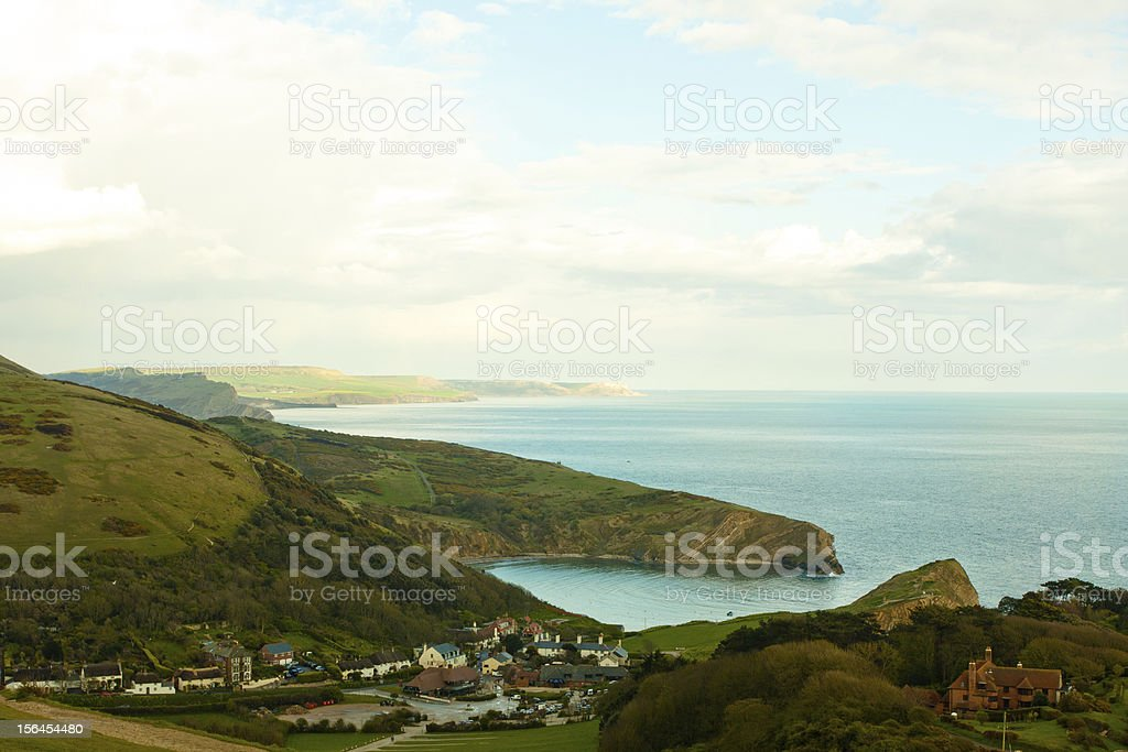 Evening in Lulworth Cove royalty-free stock photo