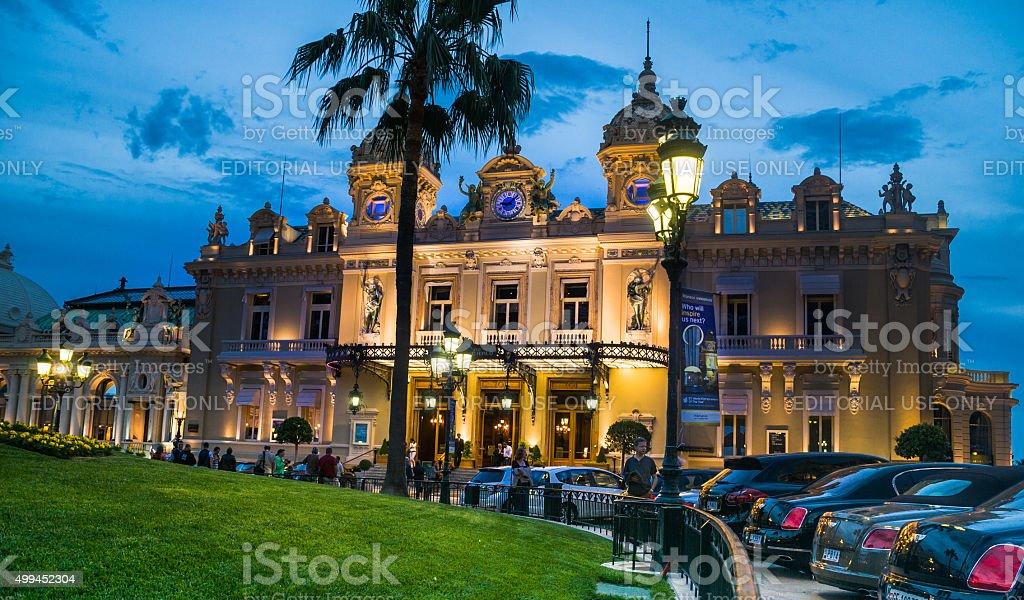 Evening in Monte Carlo stock photo