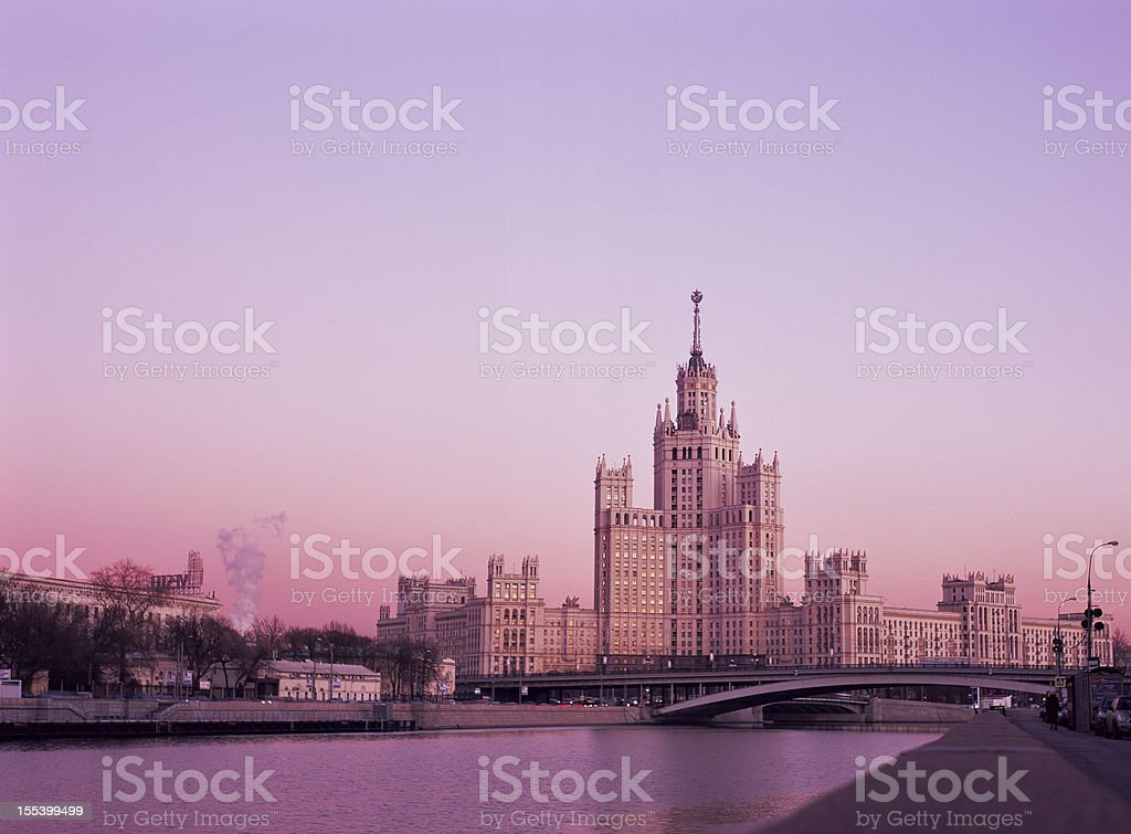 Evening in Moscow royalty-free stock photo