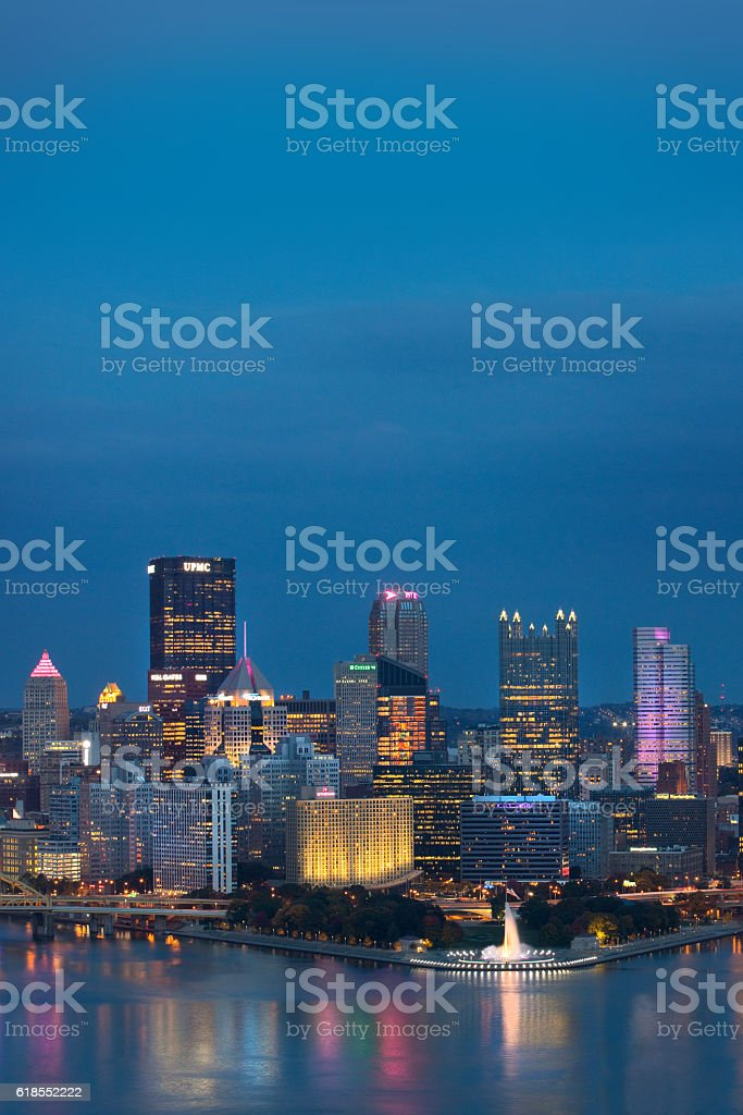 Evening In Pittsburgh Pennsylvania stock photo