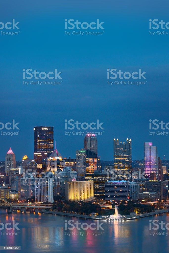 Evening In Pittsburgh Pennsylvania stock photo