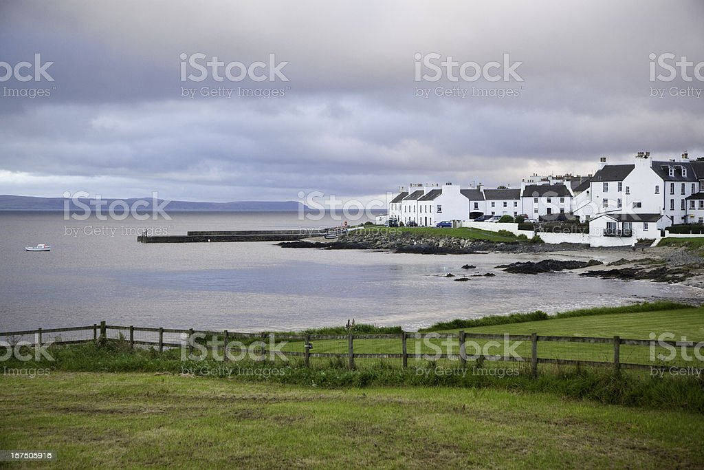 Evening in Port Charlotte, Islay, Scotland stock photo