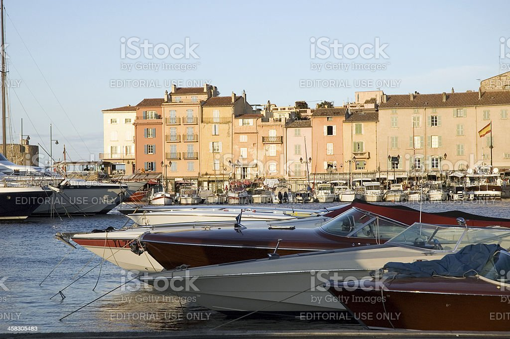 Evening in Saint-Tropez royalty-free stock photo