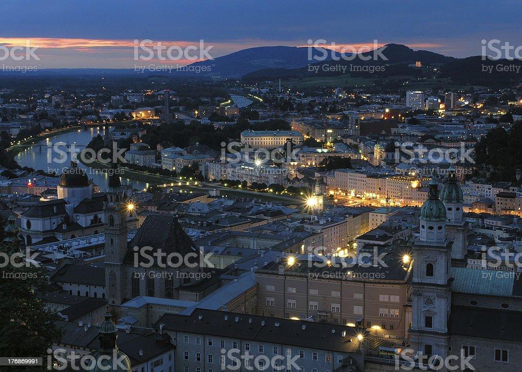 Evening in Salzburg stock photo