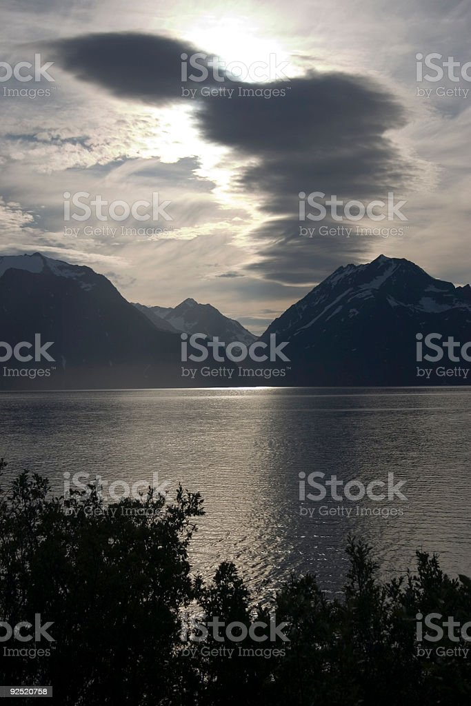 Evening in the fjord royalty-free stock photo