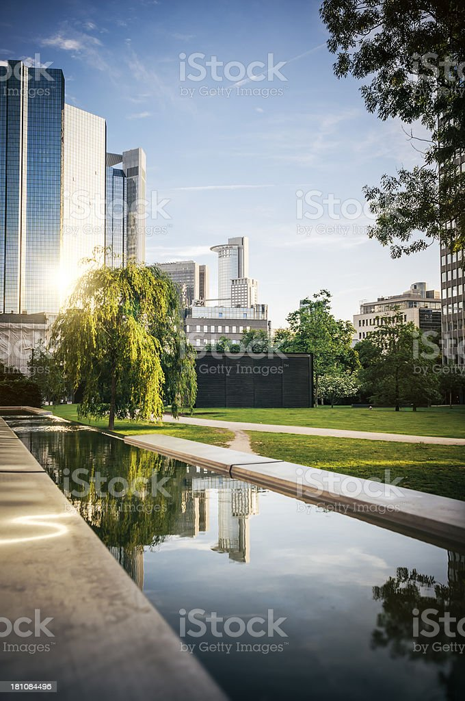 Evening in the park - Frankfurt am Main royalty-free stock photo