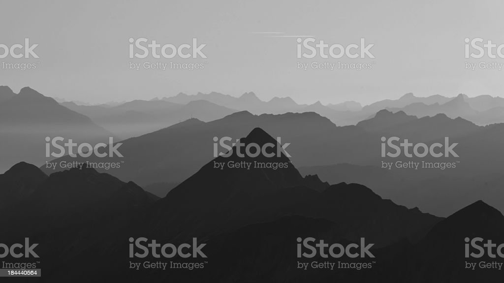 Evening in the Swiss Alps royalty-free stock photo