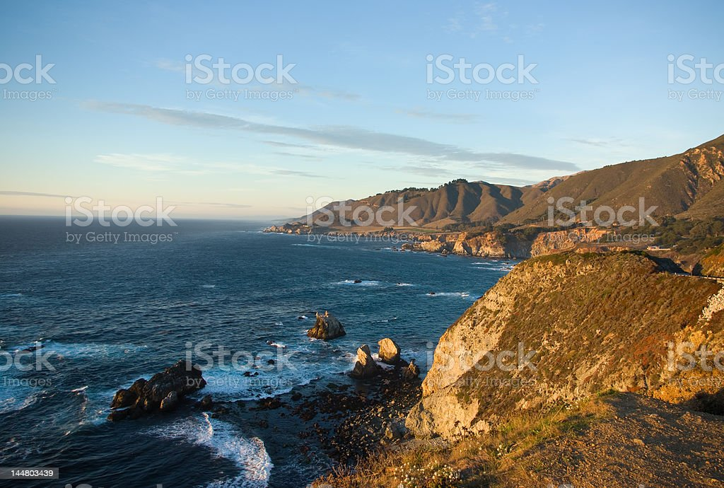 Evening in west coast california royalty-free stock photo