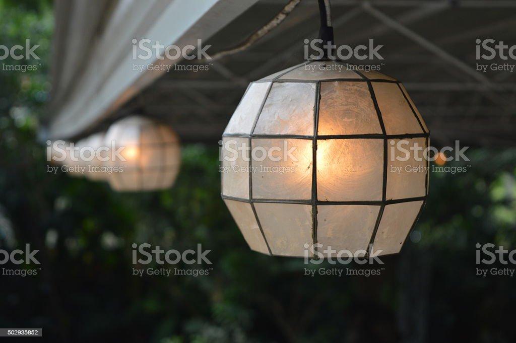 Evening Lamp stock photo
