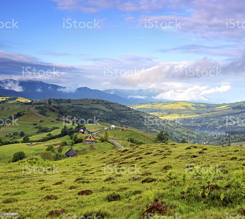 Evening landscape in the mountains royalty-free stock photo
