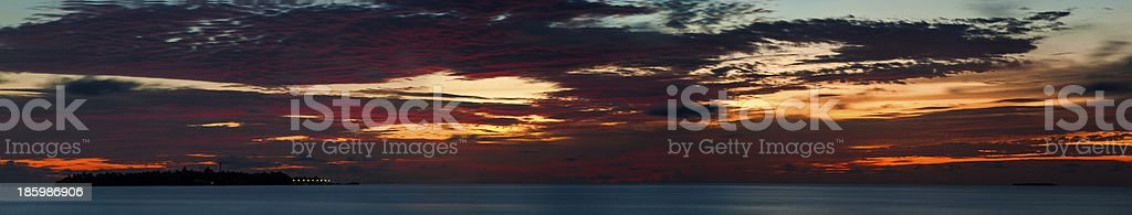 evening landscape over the ocean royalty-free stock photo