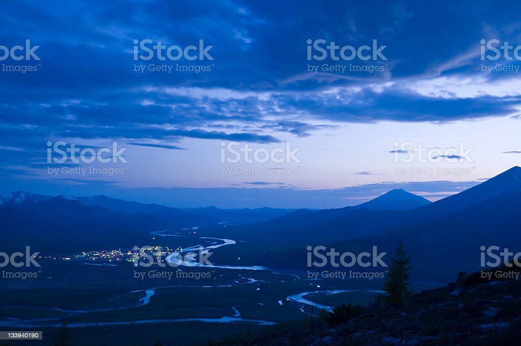 Evening Landscape. royalty-free stock photo