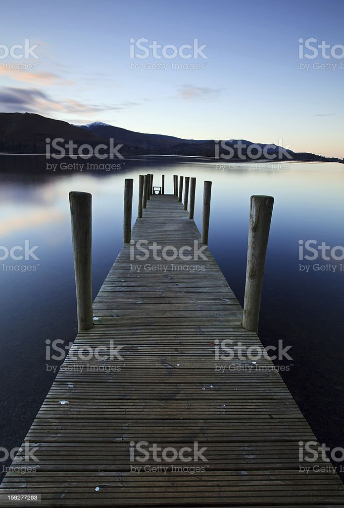 Evening Light on Ashness Pier royalty-free stock photo