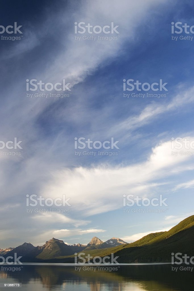 Evening Light on the Mountains royalty-free stock photo