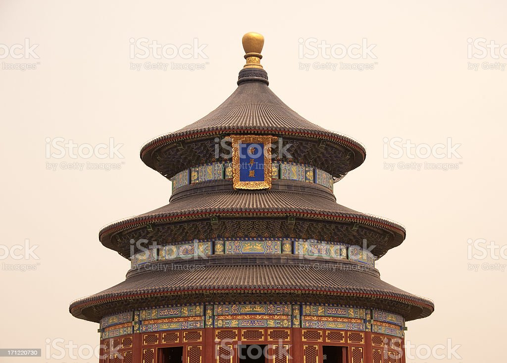Evening light on theTemple of Heaven royalty-free stock photo