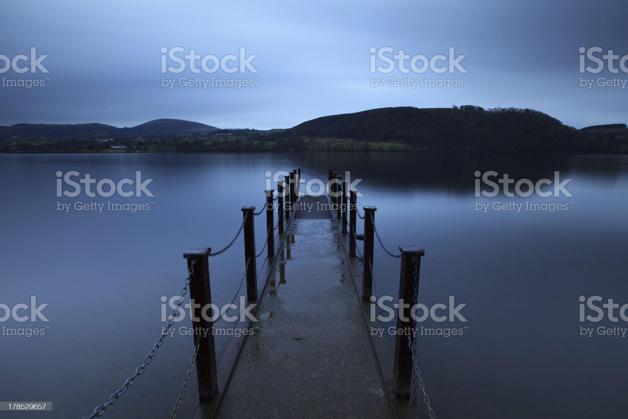 Evening Light on Ullswater royalty-free stock photo