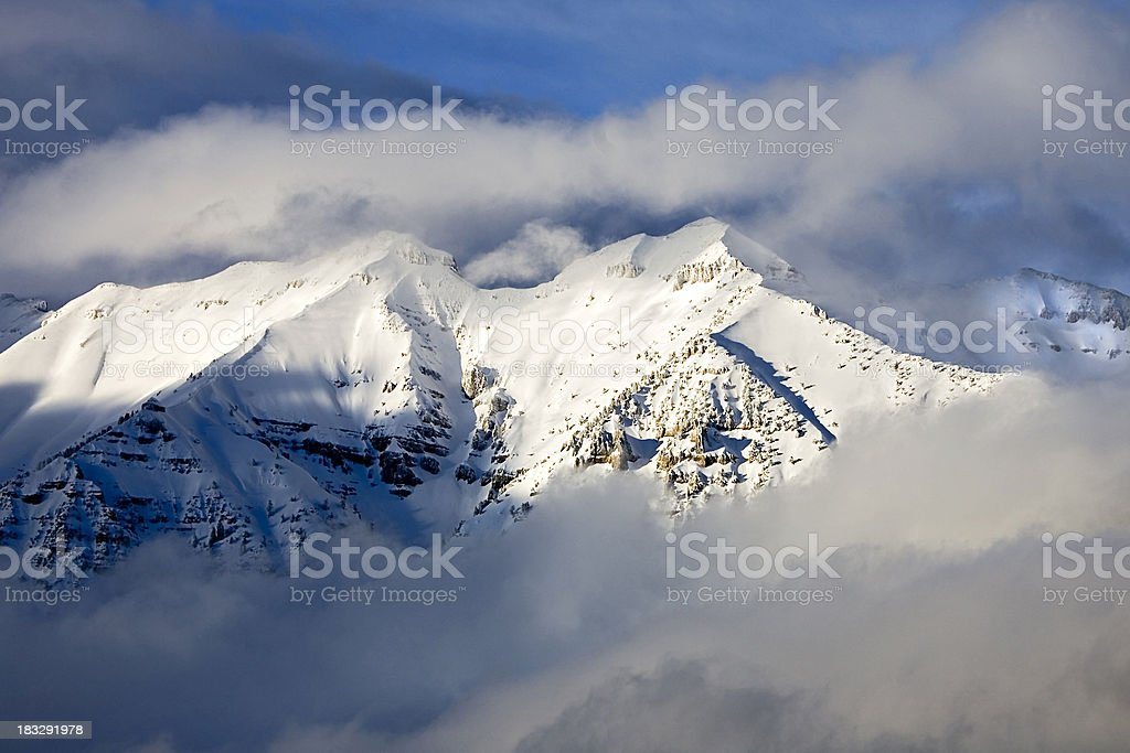 Evening Light Reflecting of the New Snow royalty-free stock photo