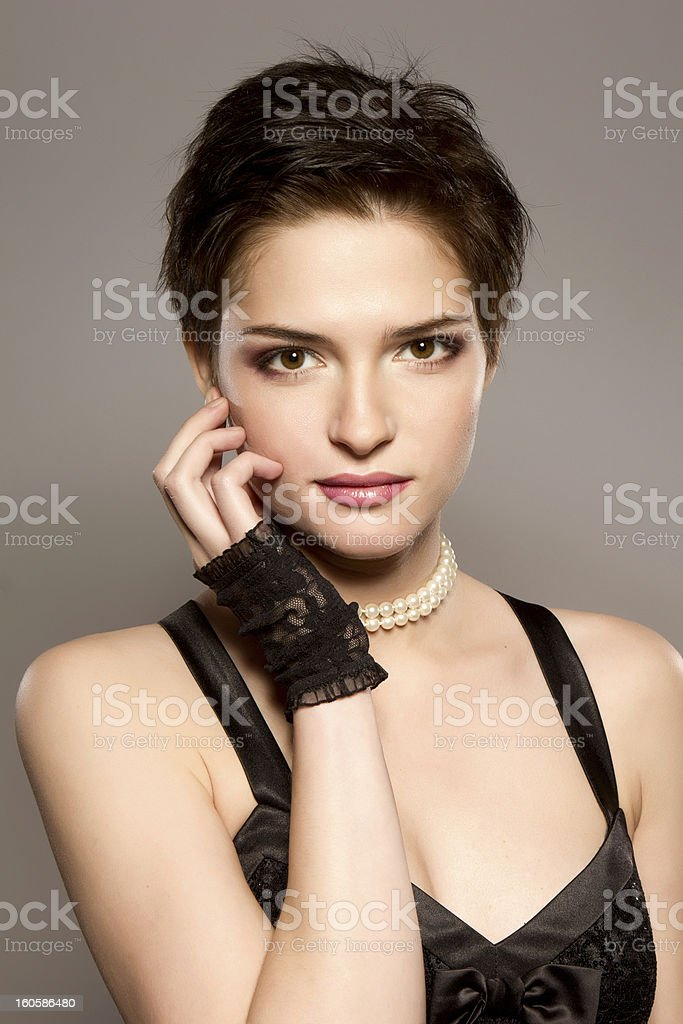 evening look royalty-free stock photo