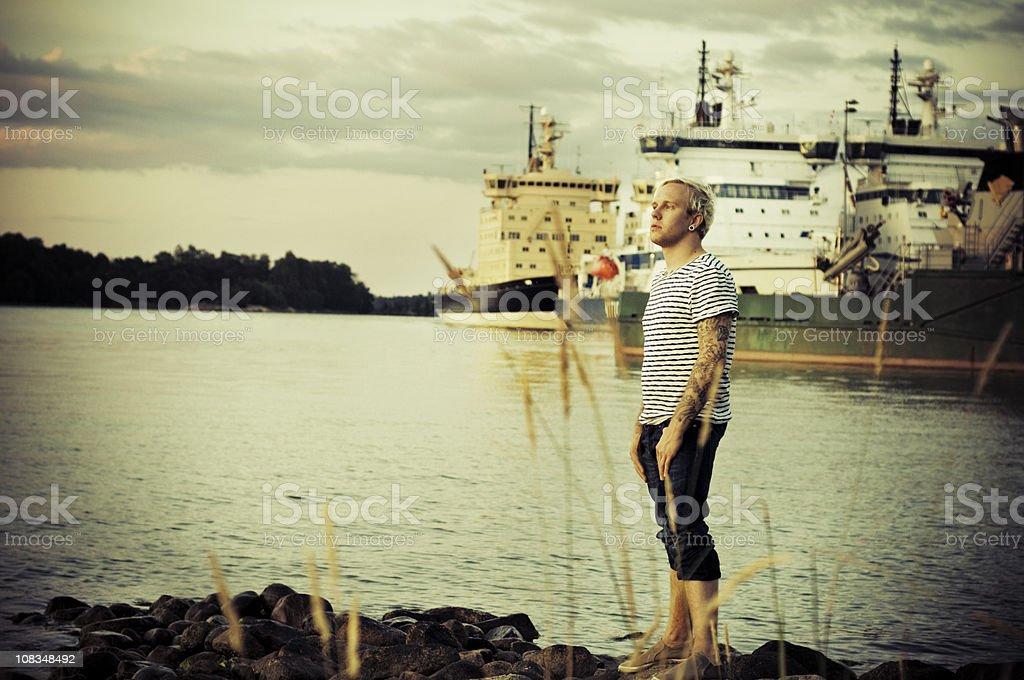 evening marina royalty-free stock photo