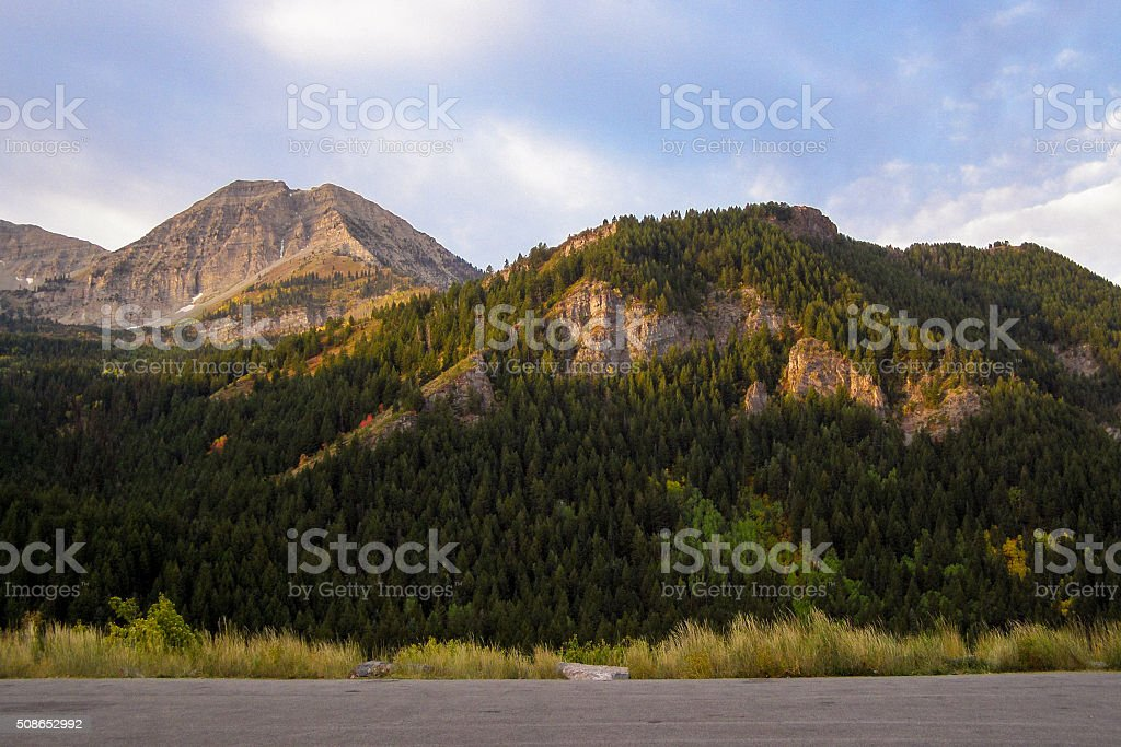 Evening Mountain Scene stock photo
