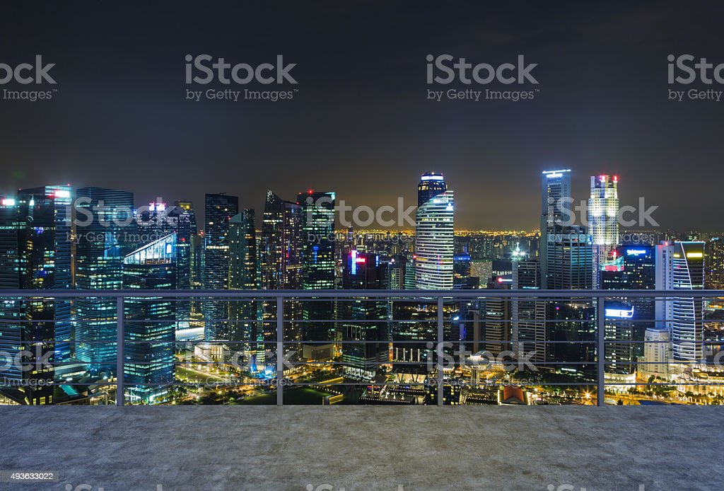evening New York city view. stock photo