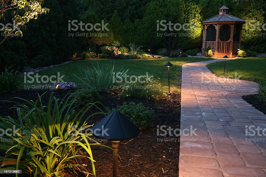 evening oasis stock photo