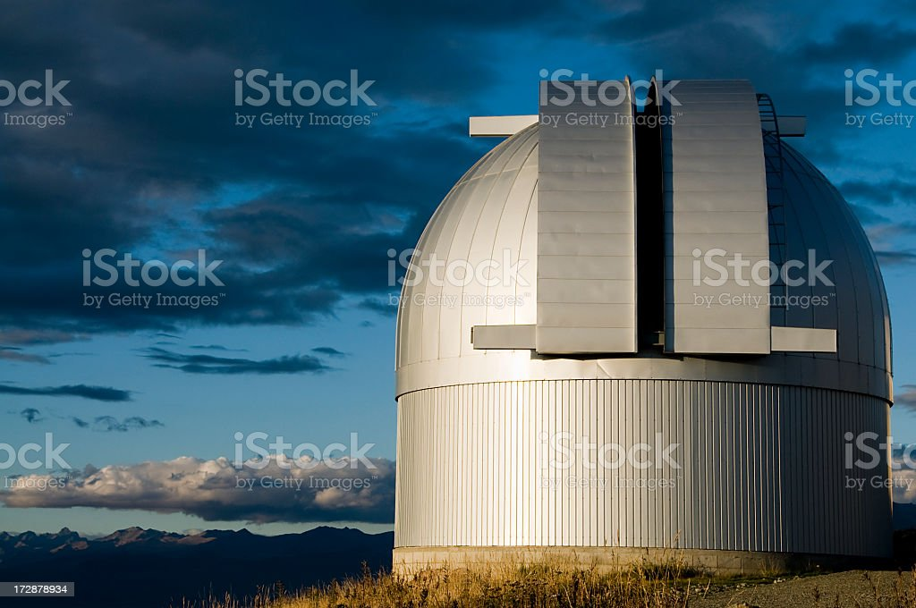 Evening Observatory stock photo