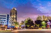 Evening of Sandton city centre with Michelangelo tower