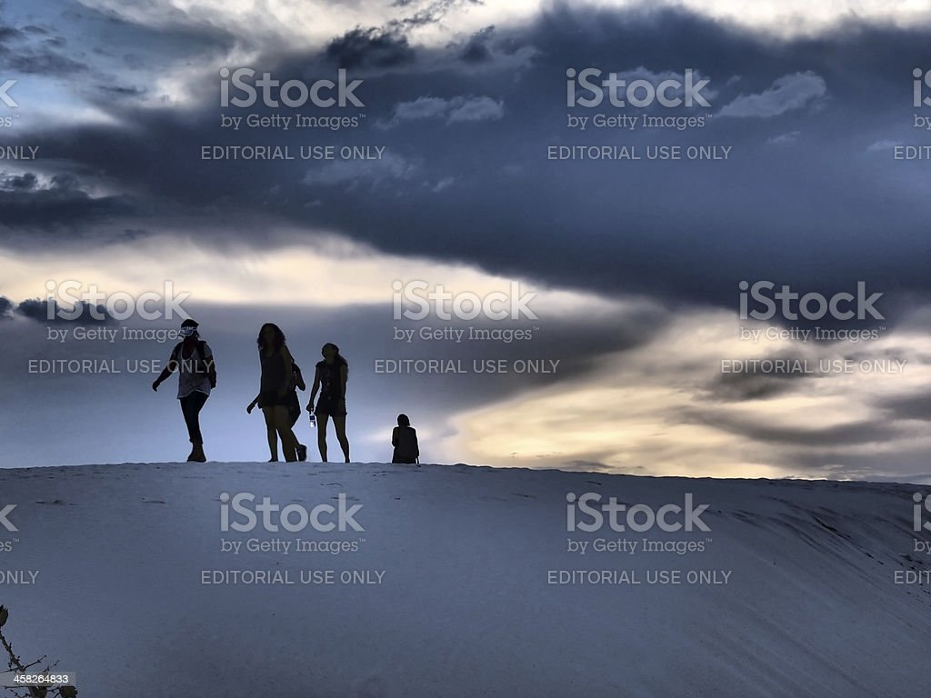 Evening on Dunes stock photo