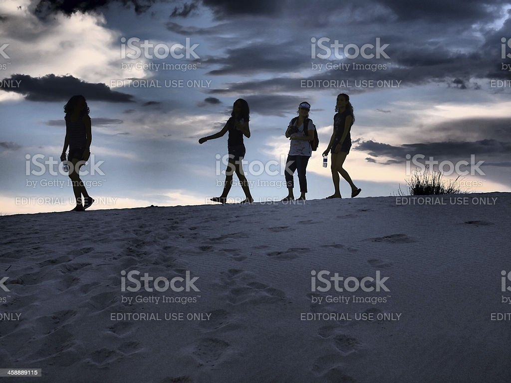 Evening on Dunes royalty-free stock photo
