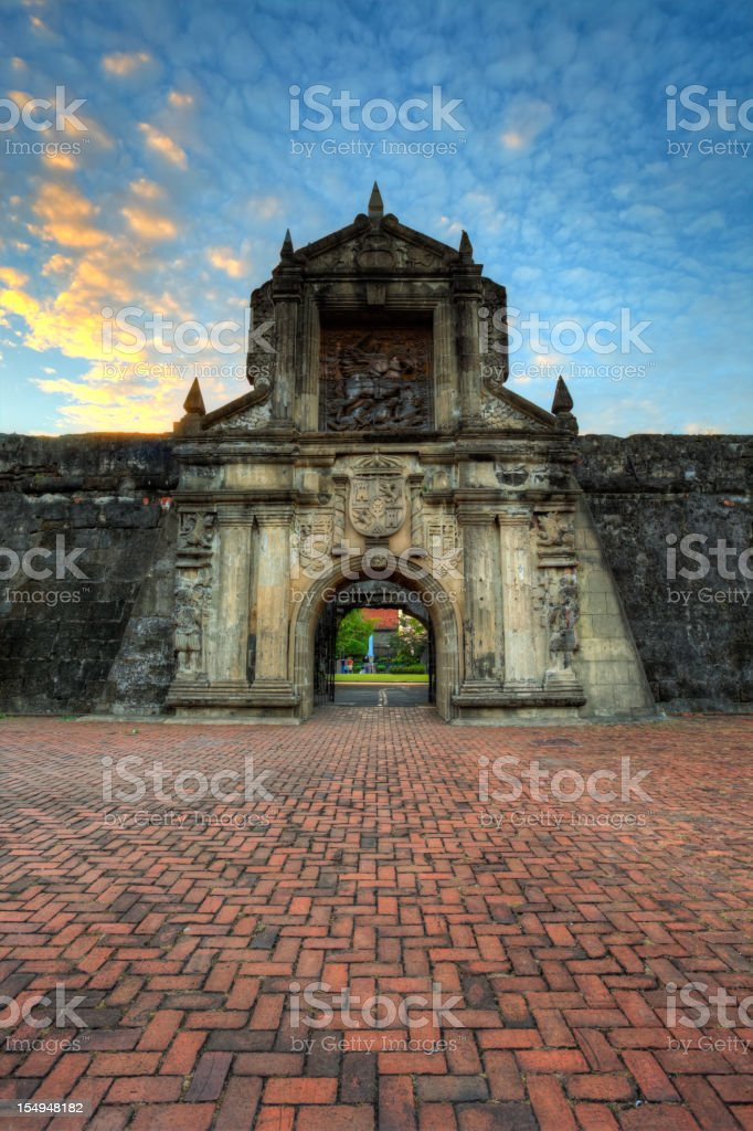 Evening on Fort Santiago - Manila Intramuros, Philippines stock photo