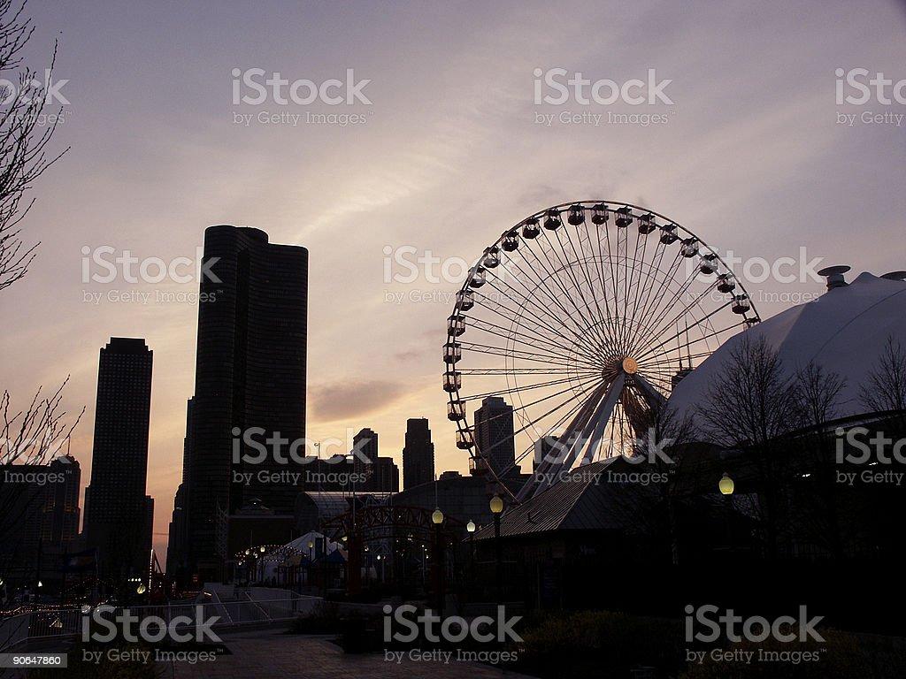 Evening on Navy Pier royalty-free stock photo