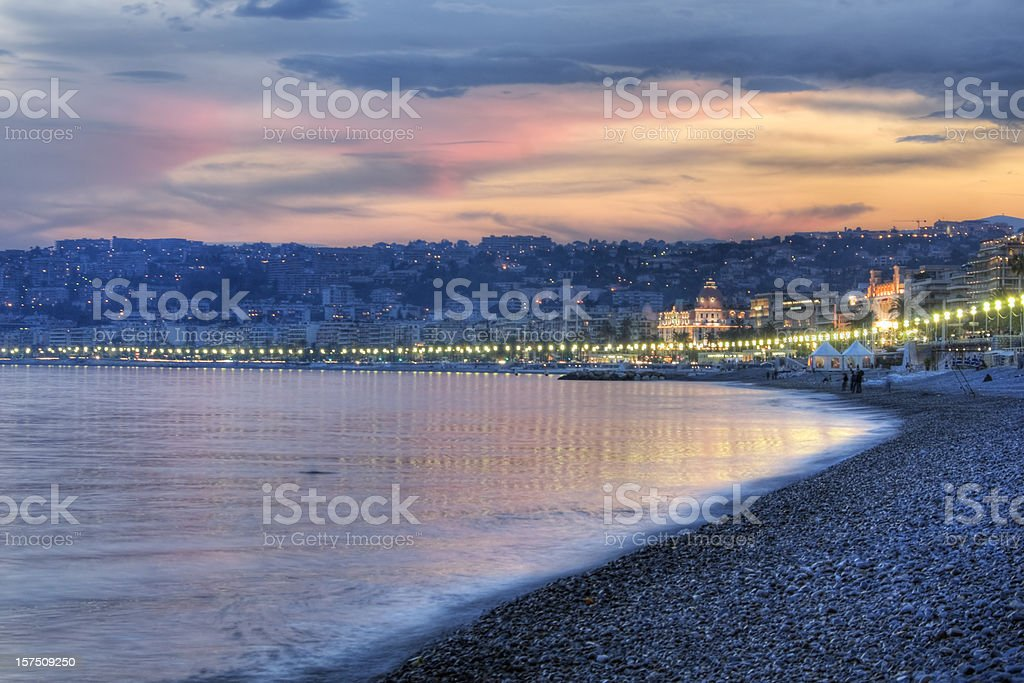 Evening on the French Riviera royalty-free stock photo