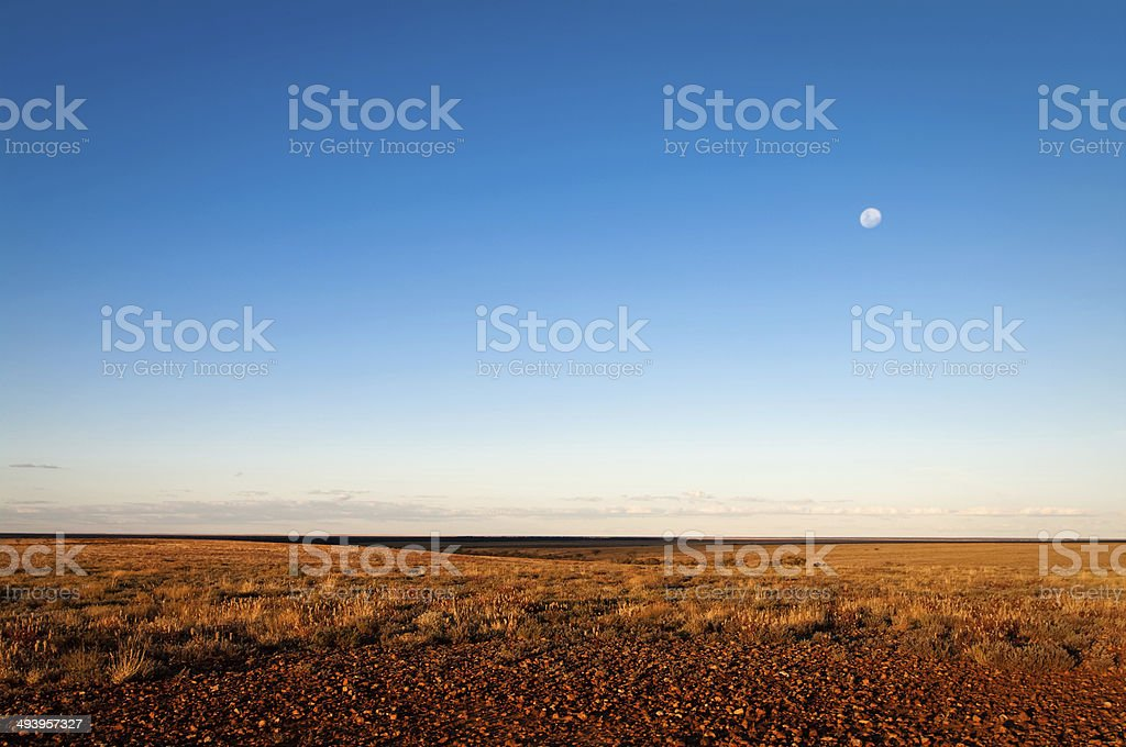 Evening on the gibber stock photo