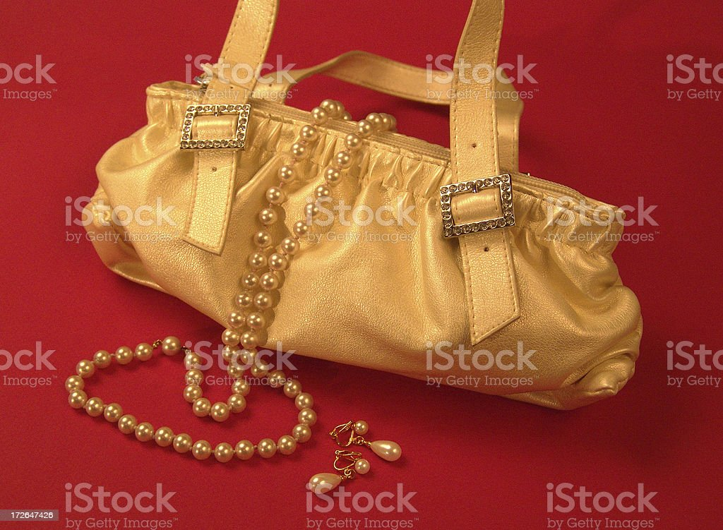 Evening out - Purse and Jewelry royalty-free stock photo
