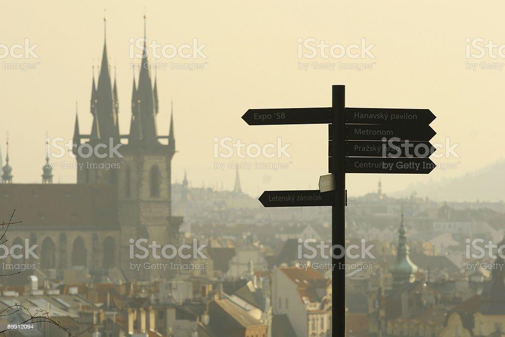 Evening over Prague royalty-free stock photo